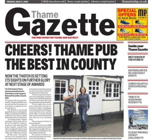Thame Gazette 6 May 2016 The Thatch